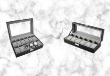 PIXNOR Uhrenbox für 6 und 12 Uhren Test