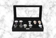 Testbericht und Erfahrungen Songmics Uhrenkoffer Kunstleder für 12 Uhren